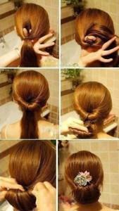 photo de coiffure rapide soirée improvisée