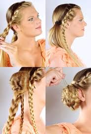 photo de coiffure simple avec tresse