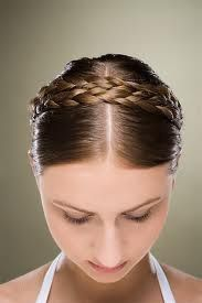 photo de coiffure simple tresse