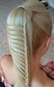photo de coiffure jolie tresse