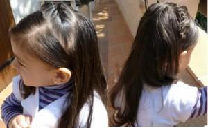 photo de coiffure anniversaire petite fille