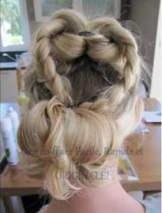 photo de coiffure pour soirée romantique