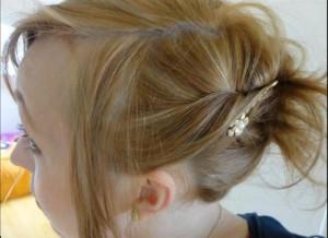 photo d'idée de coiffure rapide et jolie