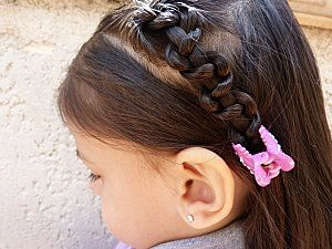 photo coiffure simple petite fille