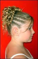 photo de coiffure enfant : tresse petite fille