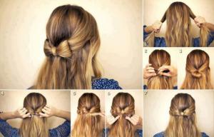 Modèle de coiffure simple et facile