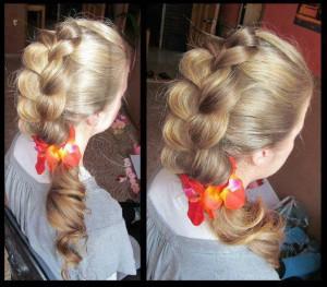 Une coiffure jolie,classe simple pour une  fête fin d'année
