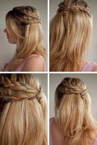 coiffure simple et rapide pour une lycéenne