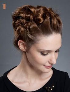 coiffure haute simple