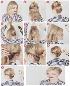 Coiffure simple et rapide cheveux courts