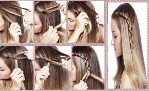 Coiffure simple et rapide pour cheveux longs
