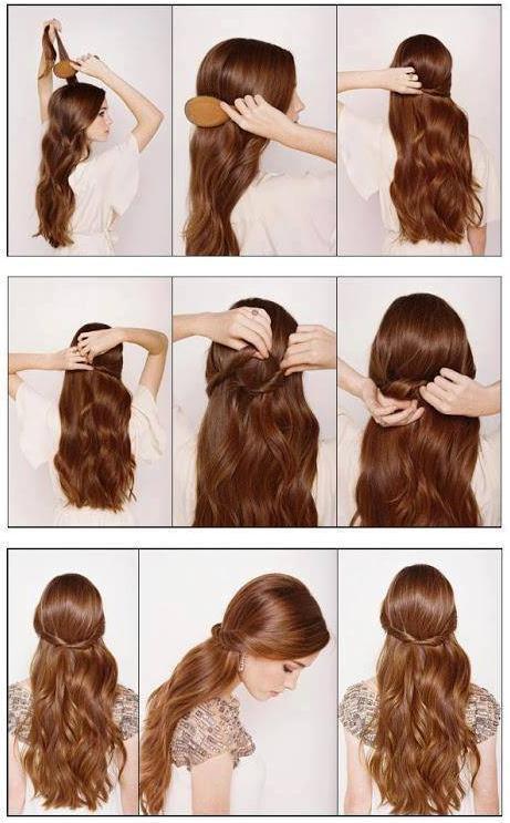 Coiffure rapide cheveux tres long