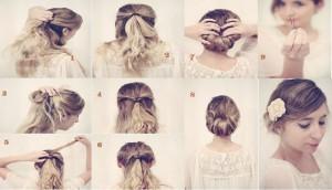 Chignon  facile cheveux courts