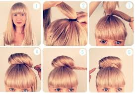 Chignon facile à faire cheveux longs