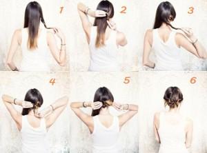 Coiffure facile cheveux mi long à faire soit même