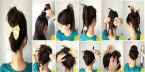 Coiffure simple rapide et belle pour cheveux courts