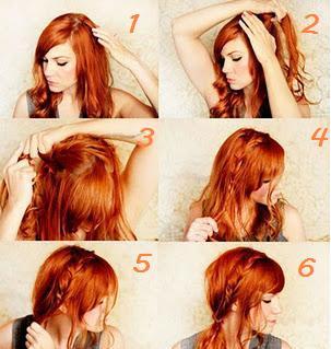 Coiffure simple et jolie pour cheveux longs