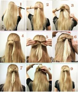 Coiffure rapide le matin pour cheveux longs