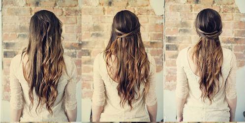 Tutoriel coiffure cheveux long soiree