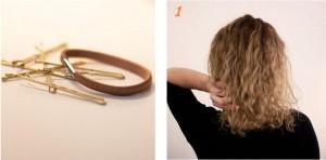 Coiffure sur cheveux bouclés