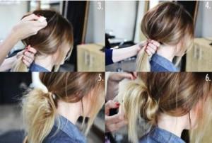 Coiffure rapide cheveux long