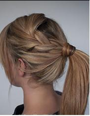 Jolie coiffure simple
