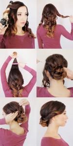 Une coiffure simple