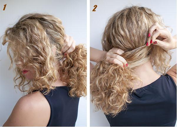 Coiffure cheveux long quotidienne