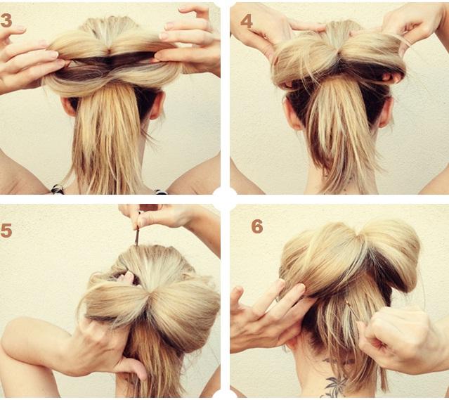 Как сделать бантик для девочки из волос 269