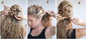Coiffure rapide cheveux bouclés