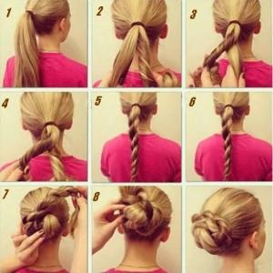 Coiffure simple et rapide cheveux longs