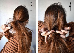 Coiffure simple quotidienne