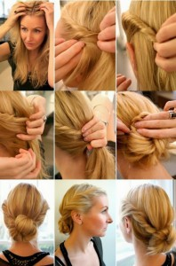 Coiffure facile et rapide cheveux longs