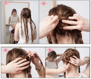 Coiffure rapide pour cheveux longs
