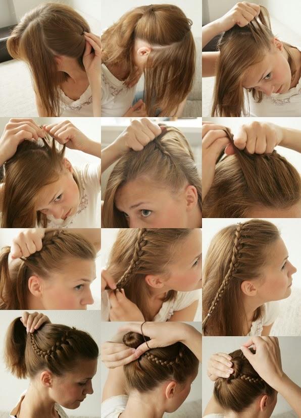 coiffure cheveux courts femme chignon