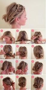 Coiffure simple et rapide cheveux mi-longs