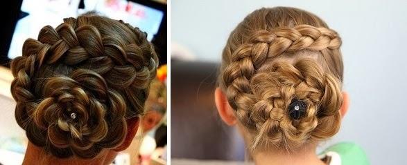 photo de coiffure pour petite fille