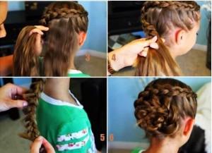 coiffure soirée pour petite fille
