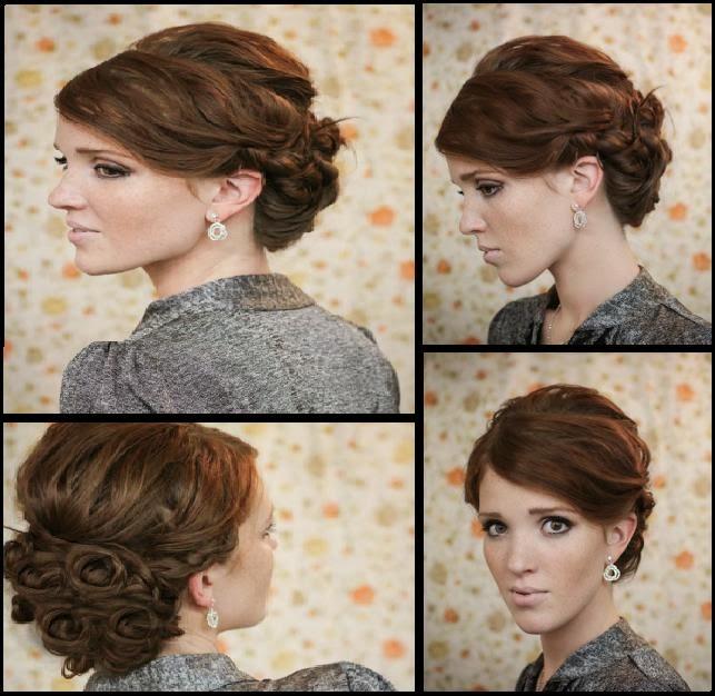Coiffure facile pour f te cheveux fris s coiffure simple et facile - Coiffure pour cheveux frises ...