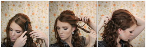 Coiffure facile pour fête cheveux frisés