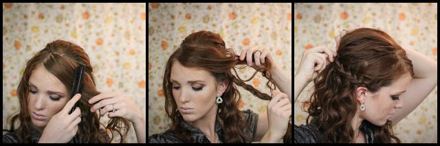 Coiffure facile pour f te cheveux fris s coiffure simple et facile - Coiffure noel facile ...