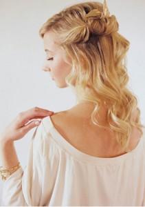 Coiffure facile cheveux long