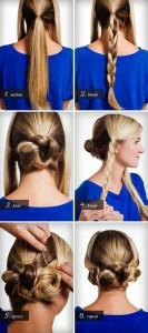 Coiffure facile cheveux longs lisses