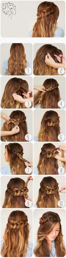 Coiffure facile cheveux longs lisses  Coiffure simple et facile