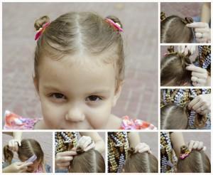 Coiffure pour une petite fille