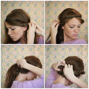 coiffure pour le nouvel an - cheveux mi-long