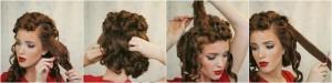 coiffure pour le nouvel an - cheveux courts