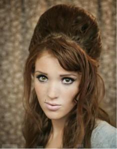 coiffure pour soirée cheveux longs - Soirée noël Modèle 1