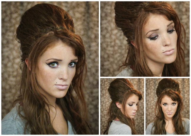 60s beehive hairstyle tutorial diy tutorial create a 1960s inspired beehive hair style - Coiffure pour soiree ...