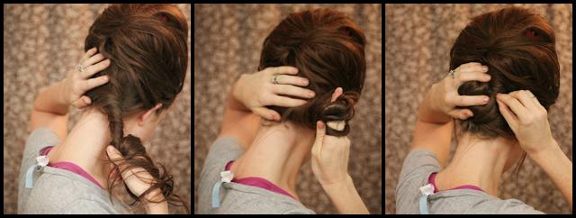 coiffure pour soirée cheveux longs , Soirée noël Modèle 2